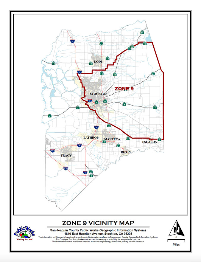 Zone 9 Map